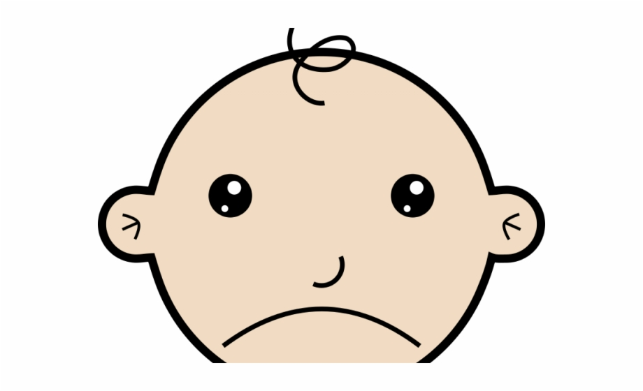 Unhappy baby clipart svg transparent library Sad Cartoon Mouth - Sad Baby Clip Art Free PNG Images ... svg transparent library