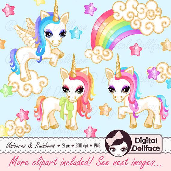 Unicorn clipart printable vector free Pony / Unicorn Clipart, Printable Rainbow Unicorn Party Clip Art ... vector free