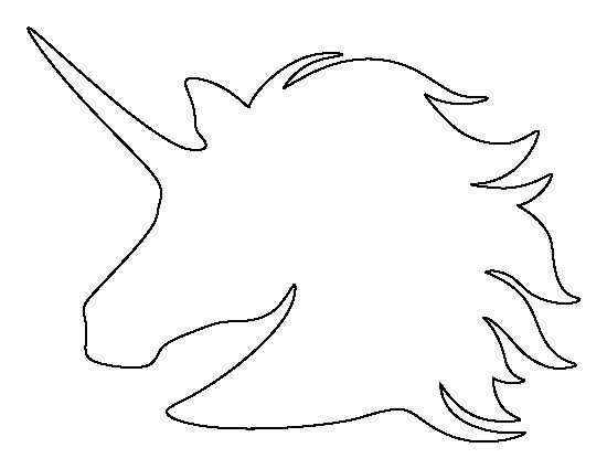 Unicorn clipart printable graphic transparent Unicorn Head pattern. Use the printable outline for crafts ... graphic transparent