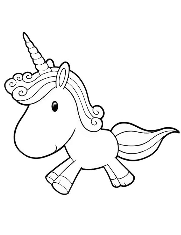 Unicorn clipart printable svg black and white download Unicorn To Color Clipart - Clipart Kid svg black and white download