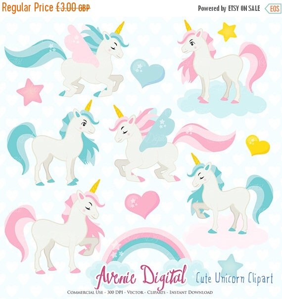 Unicorn clipart printable picture free download SALE Cute Unicorn Clipart. Scrapbook printable little pony clip ... picture free download