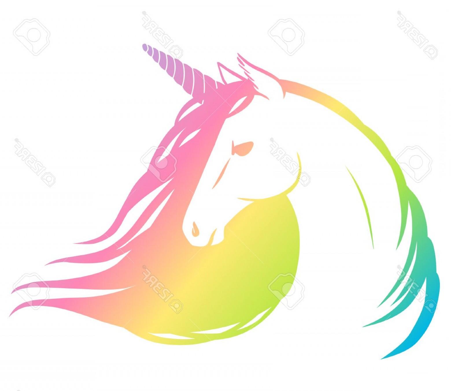 Unicorn clipart with colorful mane freeuse Unicorn Clip Art Vector | SOIDERGI freeuse
