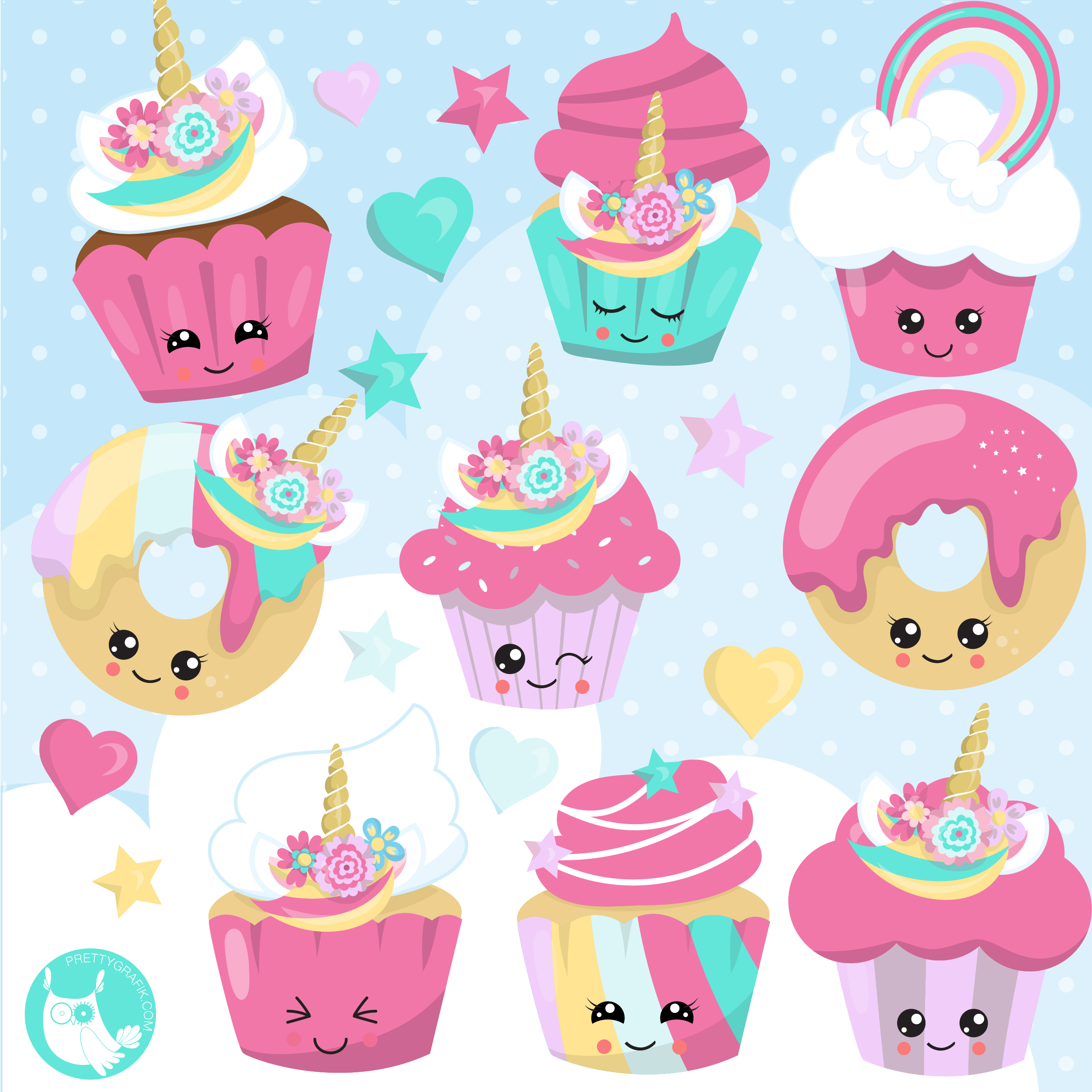 Library of unicorn cupcake svg png files Clipart Art 2019 (2499 x 2499 Pixel)