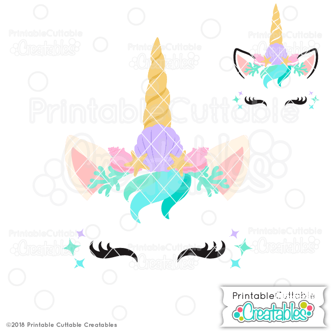Unicorn face clipart for cricut banner library download Mermaid Unicorn Face Free SVG File for Silhouette, for Cricut banner library download