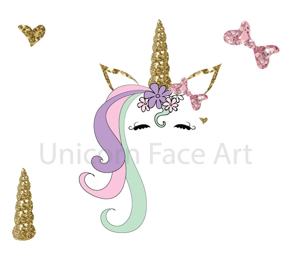 Unicorn face with butterfly clipart banner library download Pin by PrettyDigiDesigns on Digital Clipart   How to draw ... banner library download