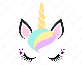 Unicorn face with butterfly clipart vector freeuse library Christmas Unicorn Clipart   Free download best Christmas ... vector freeuse library