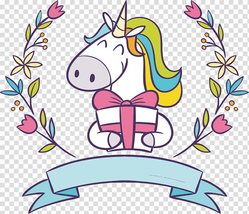 Unicorn holding sign clipart black and white clip royalty free stock White, green, and blue unicorn holding gift box , Unicorn ... clip royalty free stock