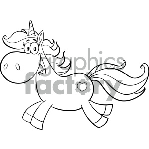 Unicorn holding sign clipart black and white vector transparent stock Clipart Illustration Black And White Cute Magic Unicorn Cartoon Mascot  Character Running Vector Illustration Isolated On White Background clipart.  ... vector transparent stock
