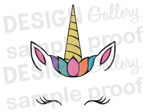 Unicorn photo face cut out clipart svg free stock Pinterest svg free stock