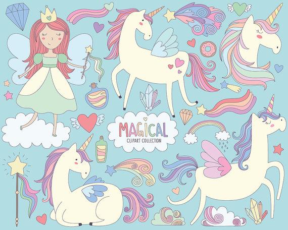 Unicorn princess clipart banner black and white download Magical Unicorns Clipart - Unicorn Clipart, Cute Magical ... banner black and white download