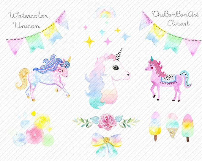Unicorn watercolor clipart clip art black and white download watercolor Unicorn Clipart. Unicorn Printable. Golden ... clip art black and white download
