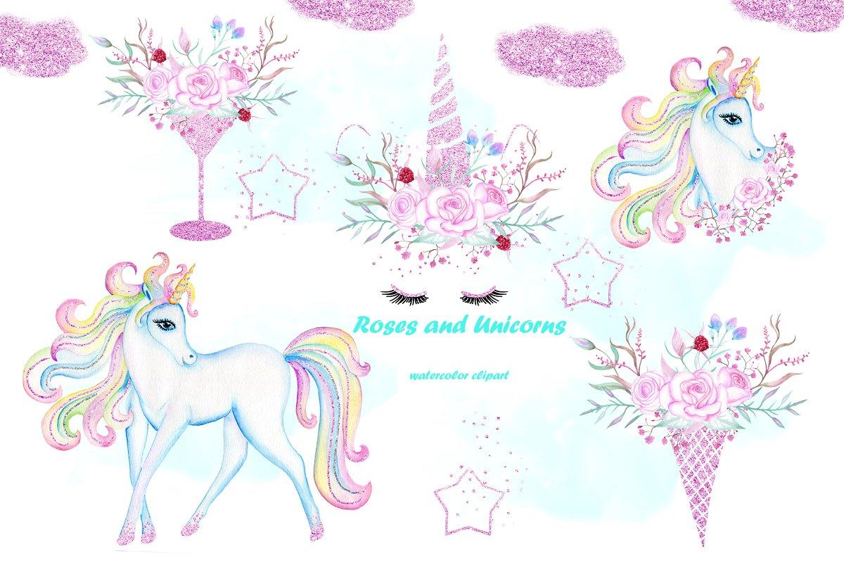 Unicorn watercolor clipart clip art free download Watercolor Unicorn clip art. clip art free download