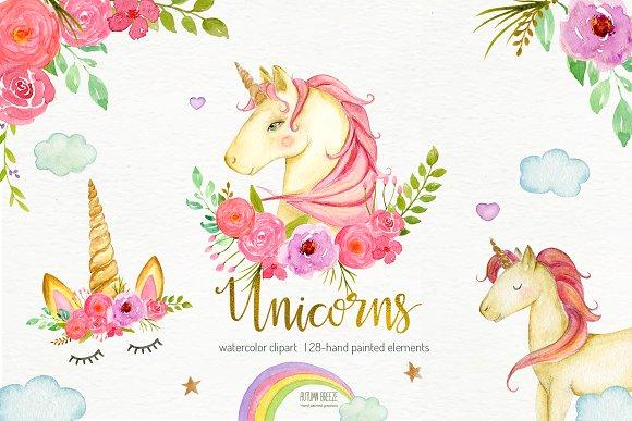Unicorn watercolor clipart clip art library Watercolor unicorn clipart clip art library
