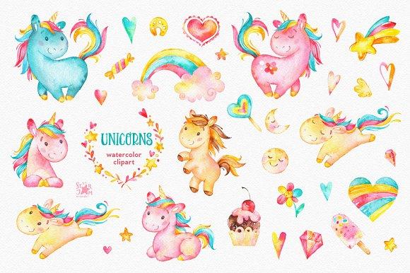 Unicorn watercolor clipart clip art library download Unicorns. Watercolor clipart clip art library download
