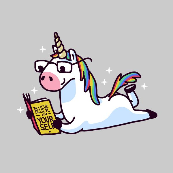 Unicorn with book clipart jpg download Image result for unicorn reading a book believe in yourself ... jpg download