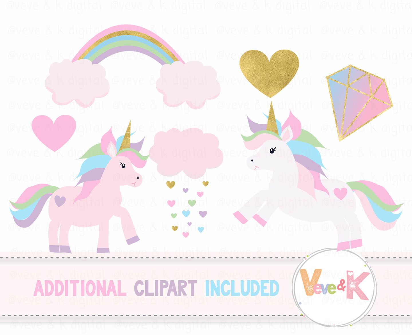 Unicorns and rainbows clipart image black and white download Unicorns Clipart, Rainbow Clipart, Unicorn Digital Papers, Rainbow Clipart,  Rainbow Papers, Unicorn Baby Shower, Gold Glitter Unicorn image black and white download