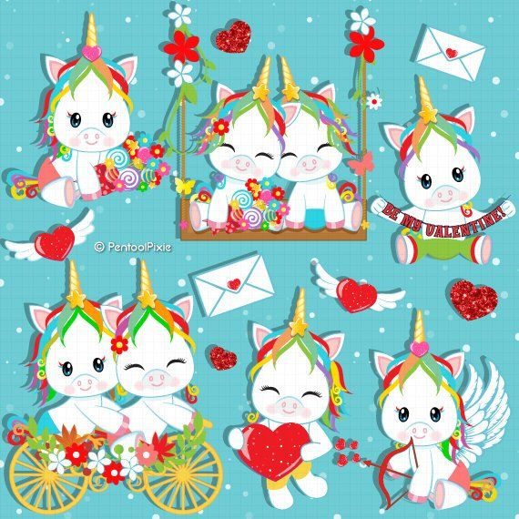 Unicorns of love clipart image library library Valentines day unicorn clipart, Valentines day clipart ... image library library