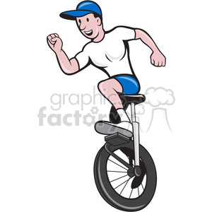 Unicycle clipart royalty free stock man on unicycle arms out front clipart. Royalty-free clipart # 390386 royalty free stock