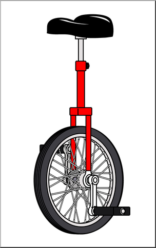 Unicycle clipart svg transparent library Clip Art: Unicycle Color I abcteach.com | abcteach svg transparent library