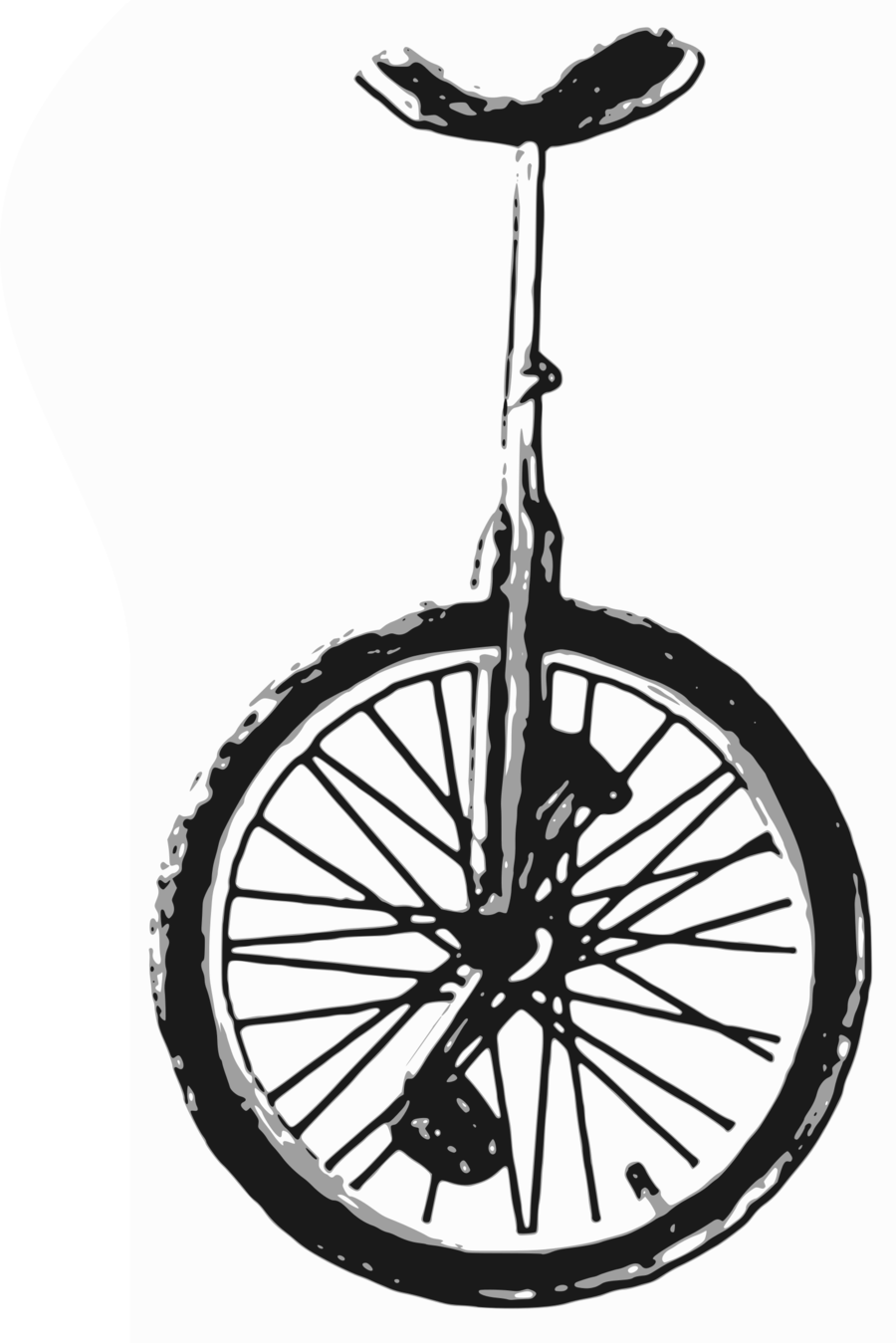 Unicycle clipart black and white vector library stock Black And White Frame clipart - Tshirt, Bicycle, Wheel ... vector library stock