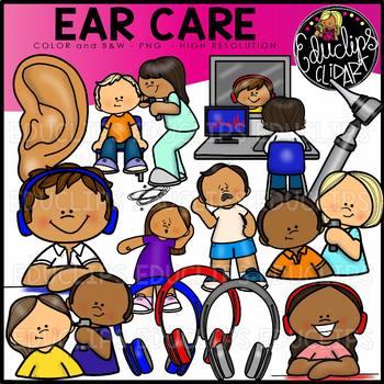 Unimpaired clipart image transparent Ear Care Clip Art Set {Educlips Clipart} image transparent