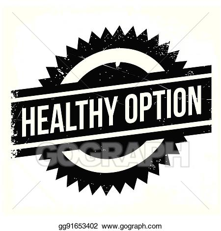 Unimpaired clipart vector royalty free Vector Illustration - Healthy option stamp. Stock Clip Art ... vector royalty free