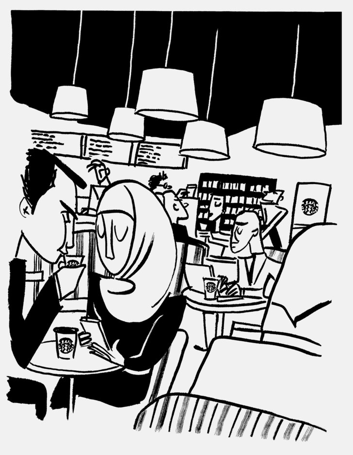 Clipart neighborhood single row black and white graphic library download Starbucks and the Issue of White Space | The New Yorker graphic library download