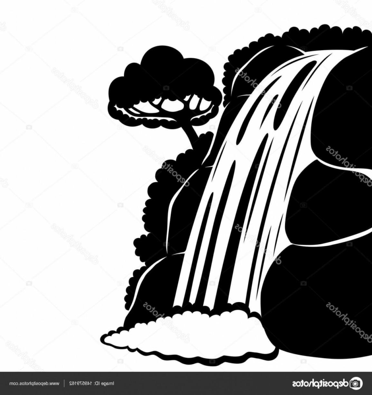 Uninhabited clipart banner royalty free download Waterfalls Clipart Vector | hoodamathrun banner royalty free download