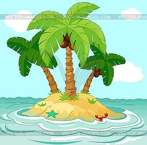Uninhabited clipart graphic stock Uninhabited island - vector clipart graphic stock