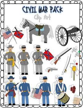 Union civil war general clipart clip art Civil War Clip Art | TpT Misc. Lessons | War, Clip art ... clip art