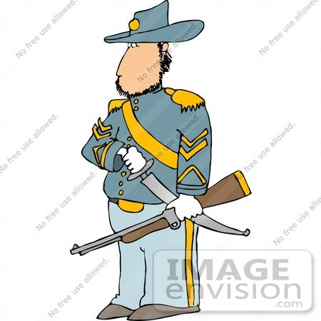 Union civil war general clipart
