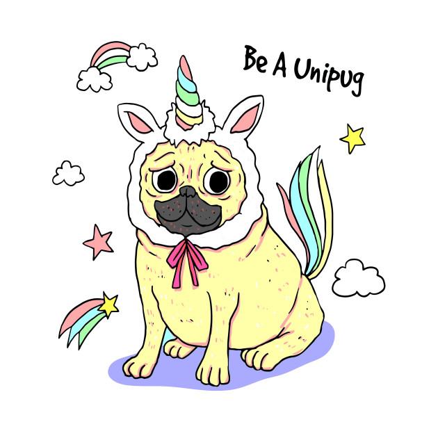 Unipug clipart graphic transparent stock Unipug pug dog. graphic transparent stock