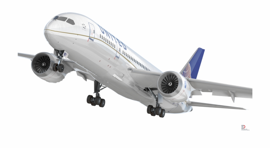 United 787 clipart banner download Download Boeing 787-3 United Airlines Rigged 3d Model ... banner download