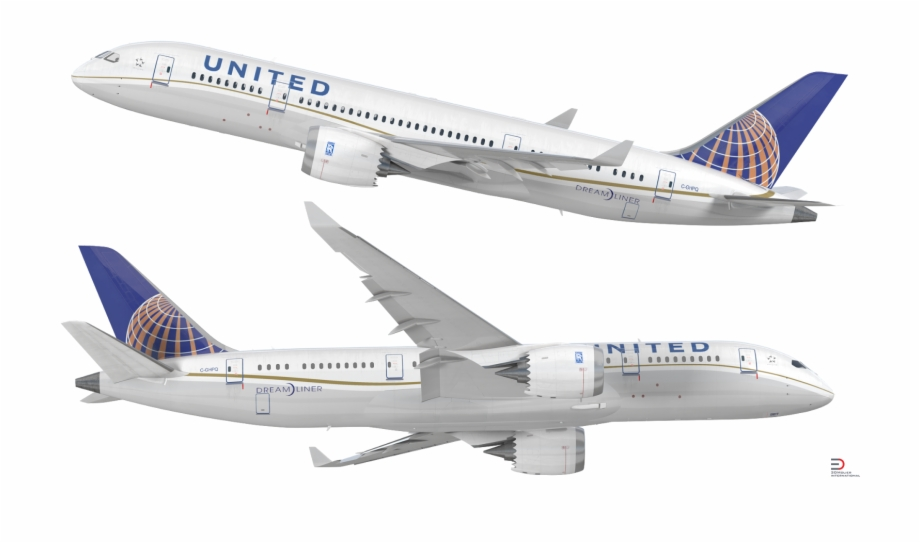United 787 clipart clipart freeuse stock Download Boeing 787-3 United Airlines Rigged 3d Model ... clipart freeuse stock