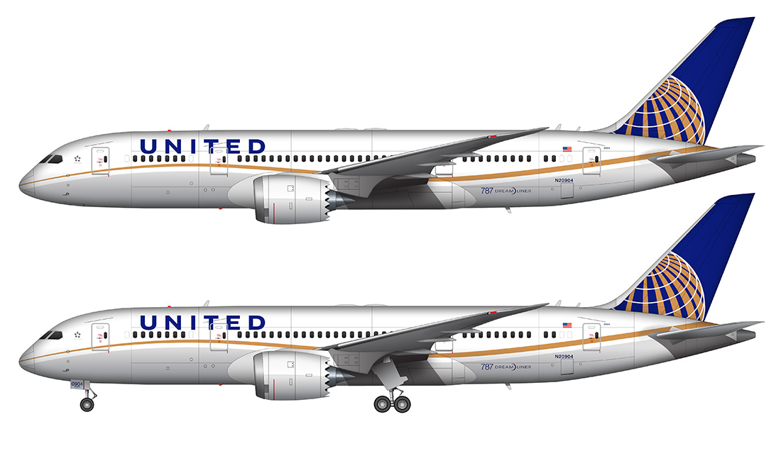 United 787 clipart image library library Free Drawn Airplane cool, Download Free Clip Art on Owips.com image library library