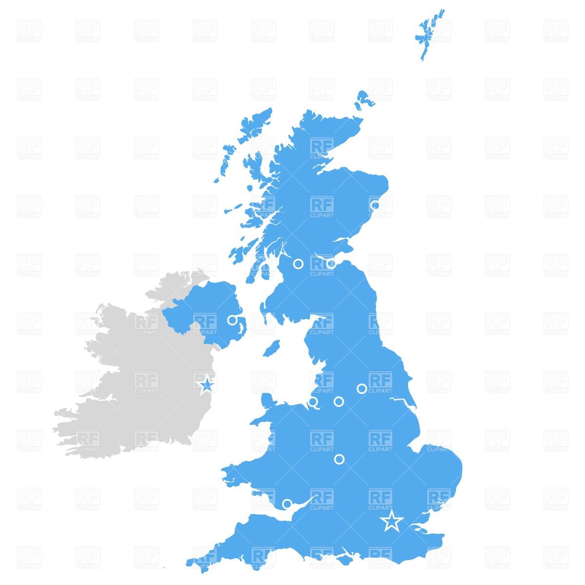 United kingdom map clipart