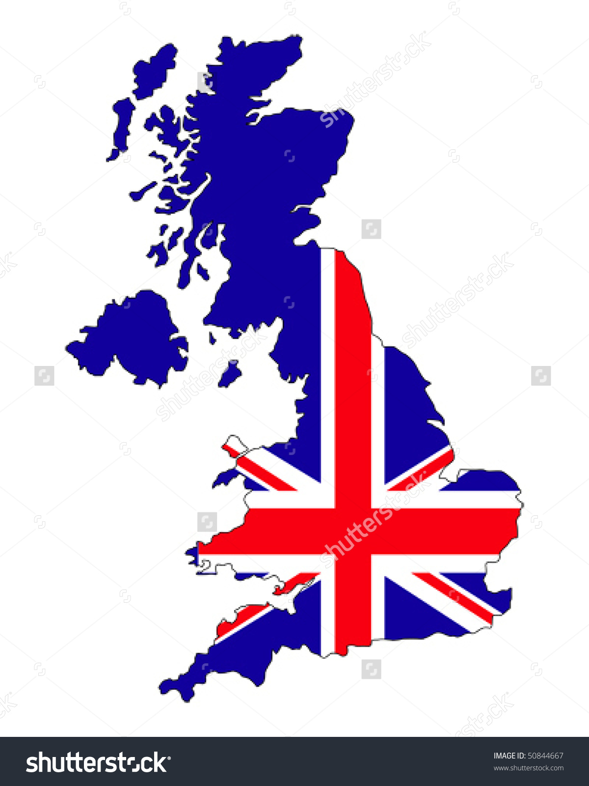 United kingdom map clipart banner freeuse stock Map Uk Filled Union Jack Flag Stock Vector 50844667 - Shutterstock banner freeuse stock