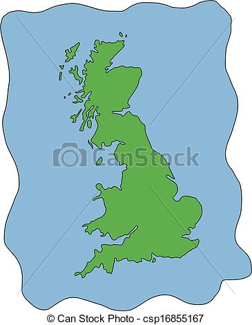 United kingdom map clipart royalty free stock Clip Art Vector of Vector Map of UK United Kingdom - Hand drawn ... royalty free stock