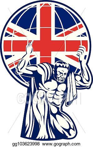 United kingdom on globe clipart clip transparent stock Vector Art - Atlas_carry_globe_front_uk-flag. EPS clipart ... clip transparent stock