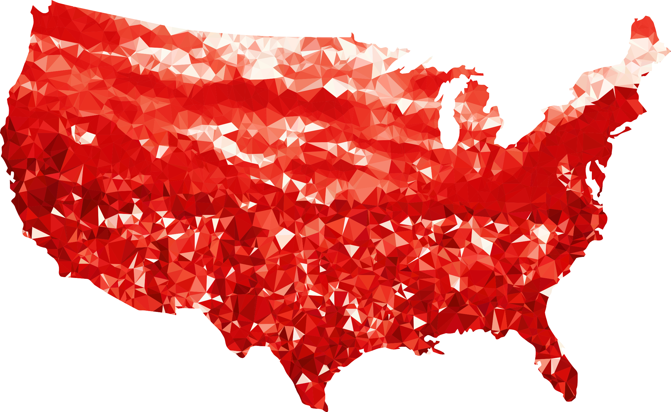 United states clipart clipart freeuse Clipart - Ruby United States Map clipart freeuse