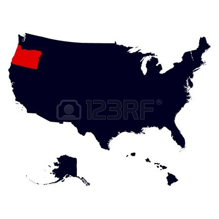 United states clipart map graphic black and white 1,432 Oregon State Stock Vector Illustration And Royalty Free ... graphic black and white