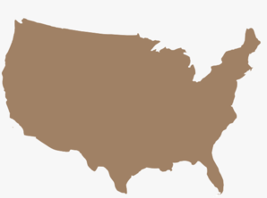 United states clipart silhouette