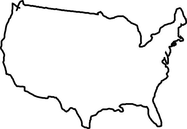 United states clipart silhouette image free stock White Map Usa Clip Art at Clker.com - vector clip art online ... image free stock