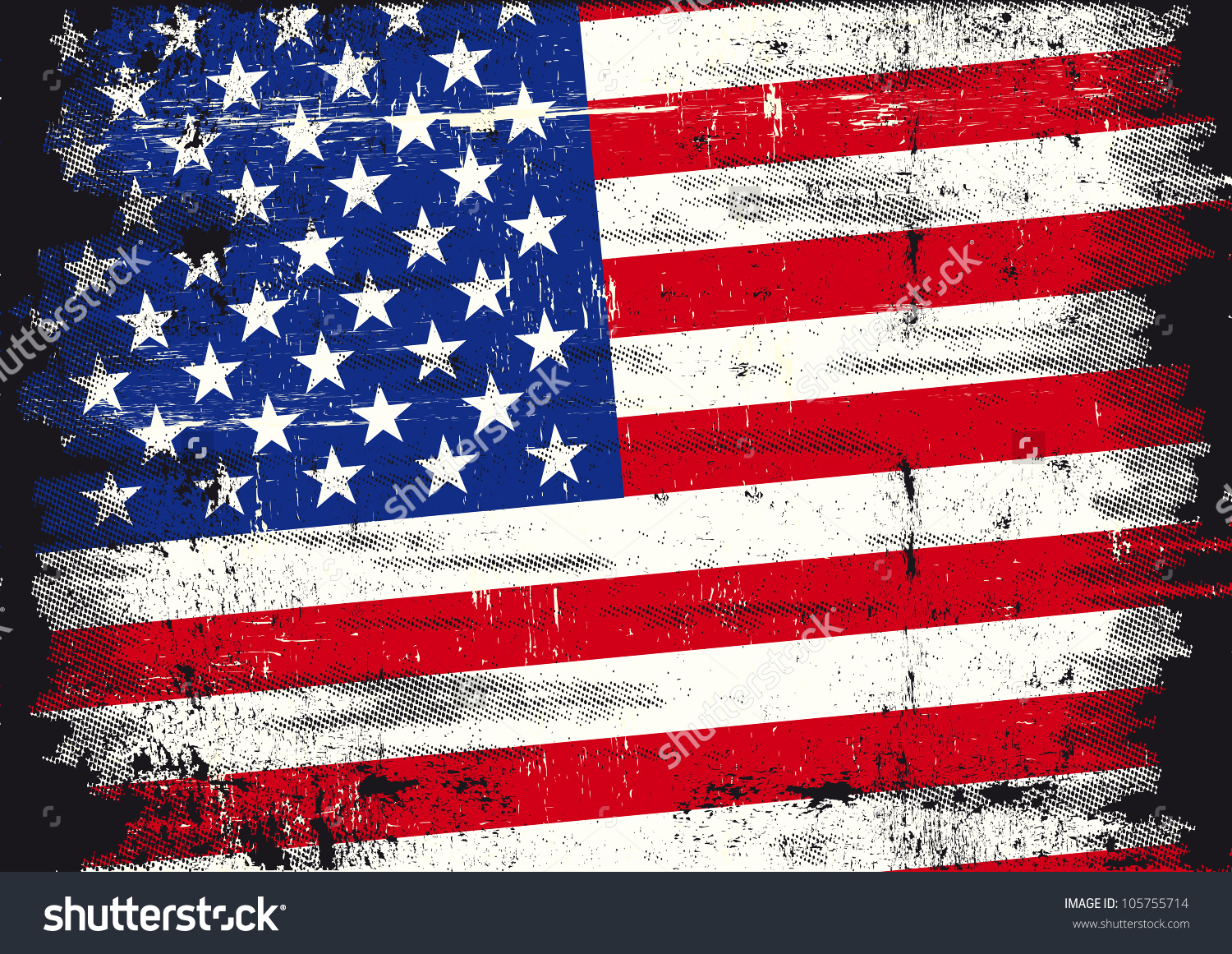 United states distressed flag clipart vector black and white library Us Distressed Flag Used Patriotic Us Stock Vector 105755714 ... vector black and white library