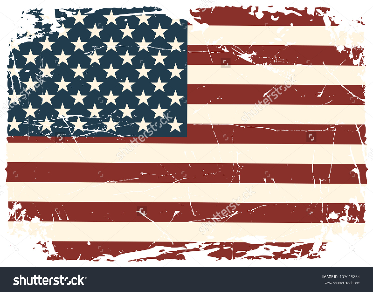 United states distressed flag clipart picture free Grunge American Flag Stock Vector 107015864 - Shutterstock picture free
