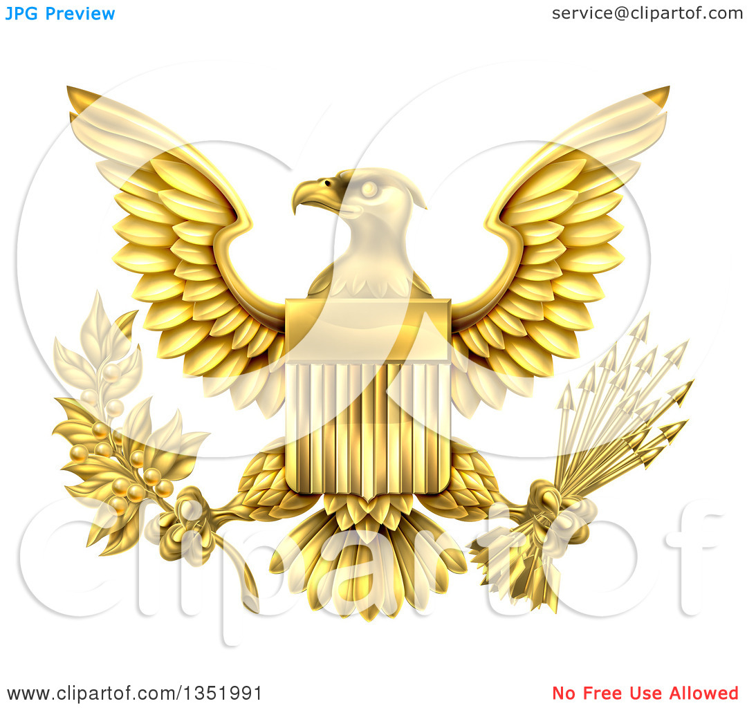 United states eagle clipart clip art royalty free stock Clipart of the Great Seal of the United States Gold Bald Eagle ... clip art royalty free stock