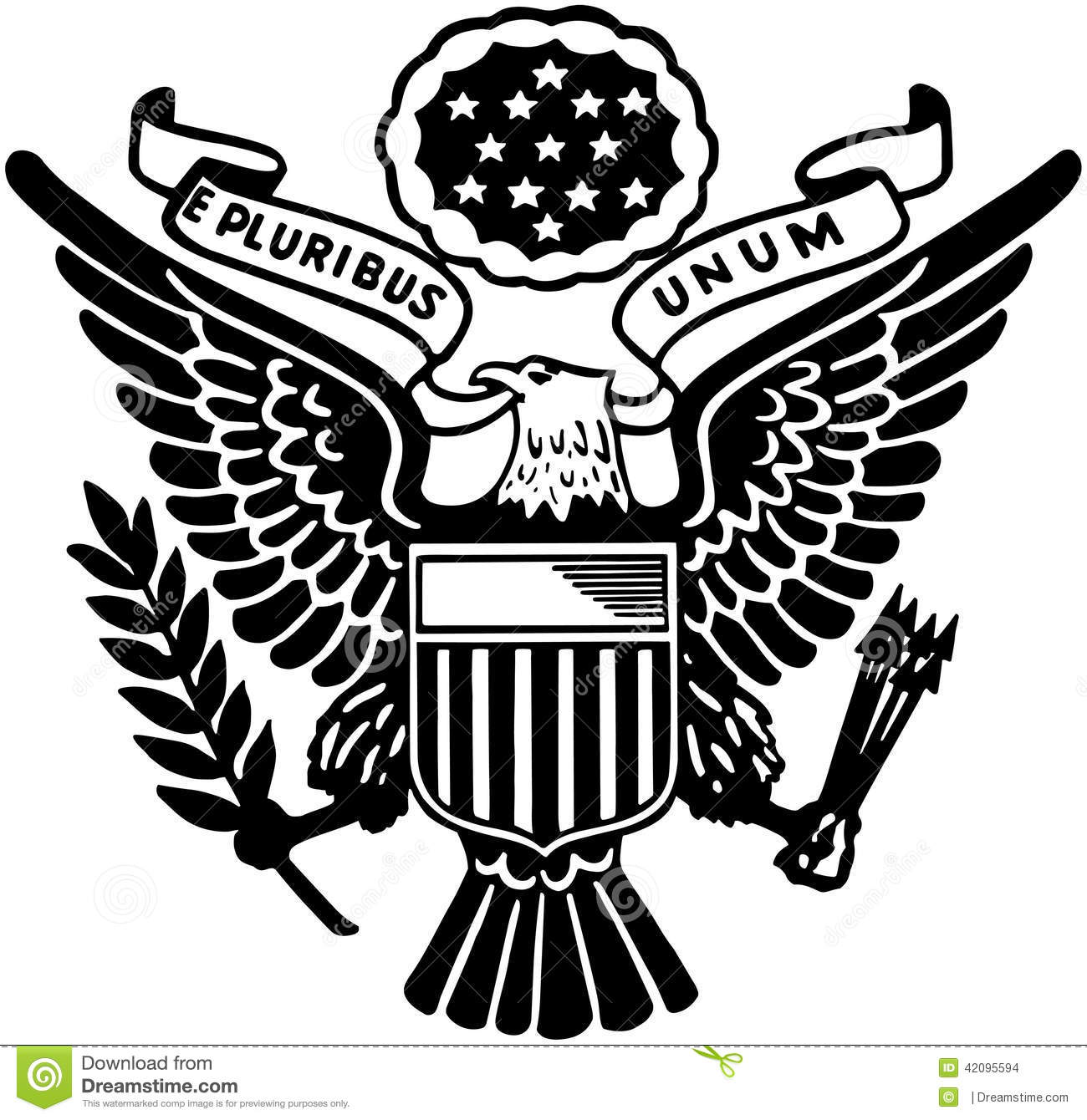 United states eagle clipart jpg black and white library Seal Of The United States Stock Vector - Image: 42095594 jpg black and white library