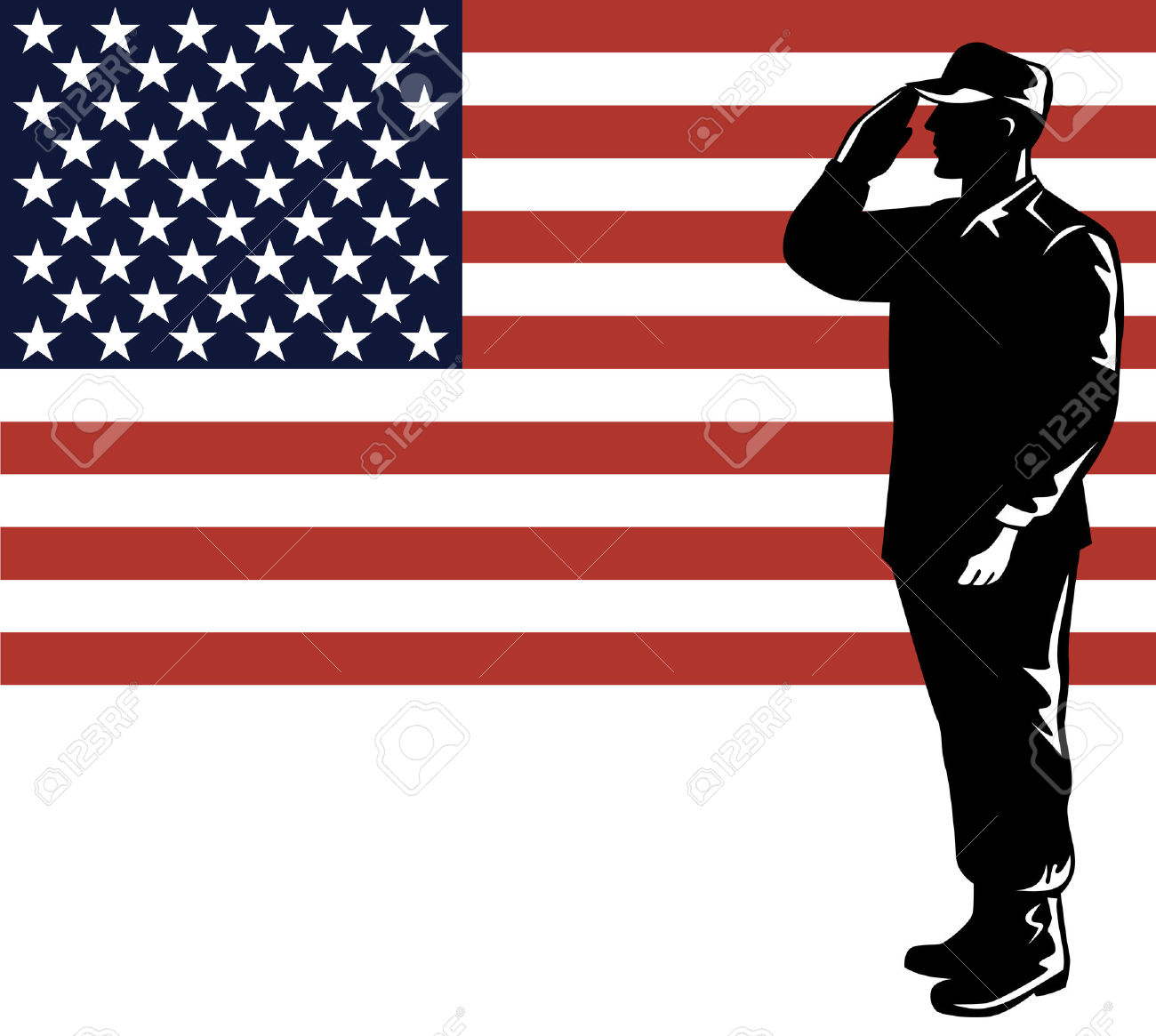 United states flag army clipart jpg stock American Soldier With Flag Royalty Free Cliparts, Vectors, And ... jpg stock
