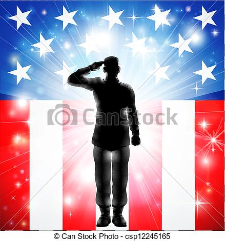 United states flag army clipart