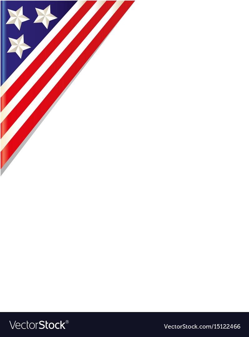 United states flag border clipart banner black and white Usa flag border corner banner black and white